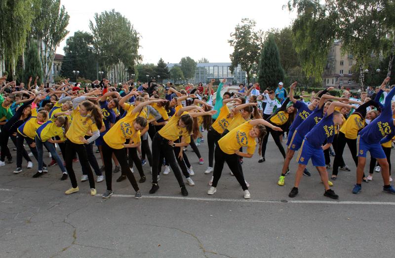 Загальноміська зарядка у Покровську пройшла під наглядом поліцейських, фото-3