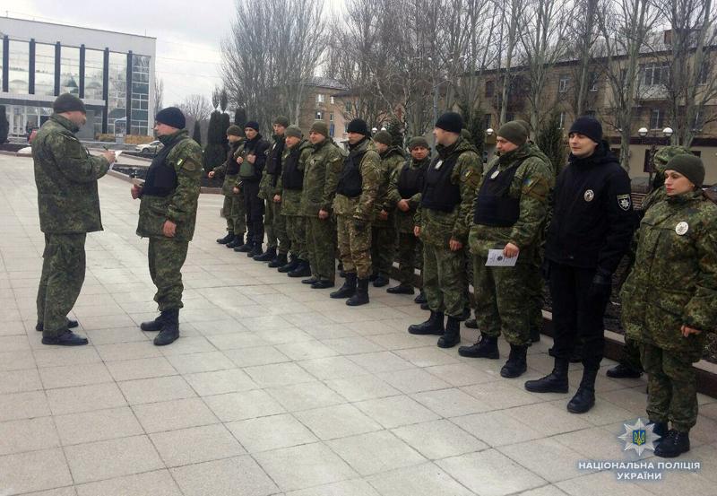 Поліцейські Добропілля, які охоронятимуть спокій громадян у вихідні, публічно заступили на службу, фото-2