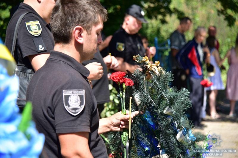 Поліцейські донеччини вшанували пам'ять олександра трегуба, який помер рік тому під час виконання службових обов'язків, фото-5