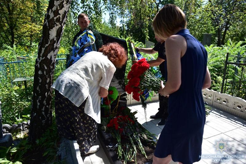 Поліцейські донеччини вшанували пам'ять олександра трегуба, який помер рік тому під час виконання службових обов'язків, фото-8