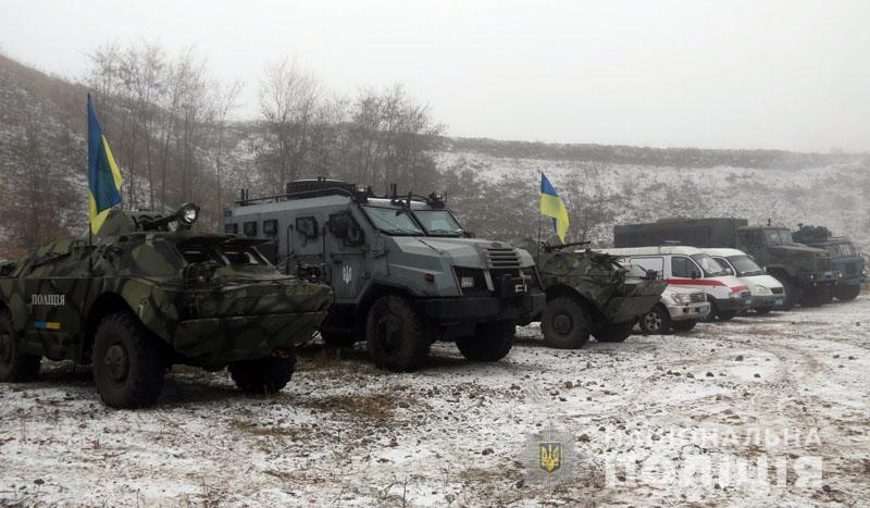 На Донеччині відбулися польові навчання для керівників територіальних підрозділів поліції , фото-3