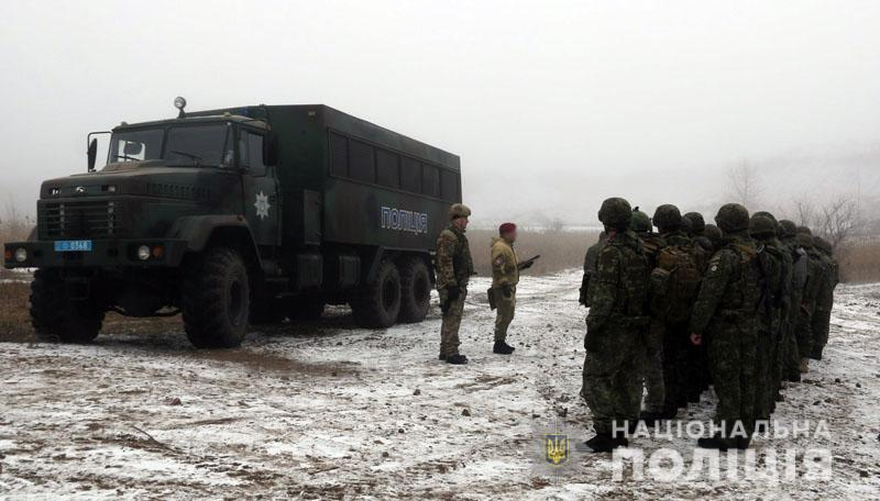 На Донеччині відбулися польові навчання для керівників територіальних підрозділів поліції , фото-4
