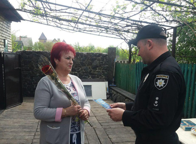 Керівництво Покровського відділу поліції привітало матерів своїх колег зі святом, фото-14