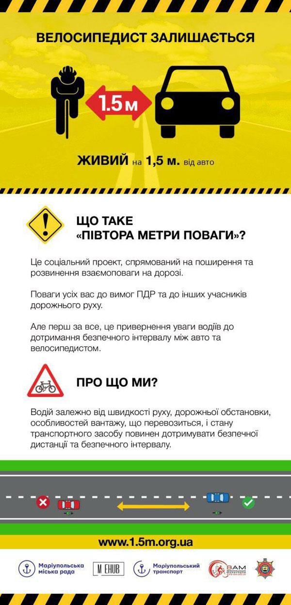 На Донеччині поліція та громадськість реалізують соціальний проект з безпеки велосипедистів «Півтора метри поваги», фото-5