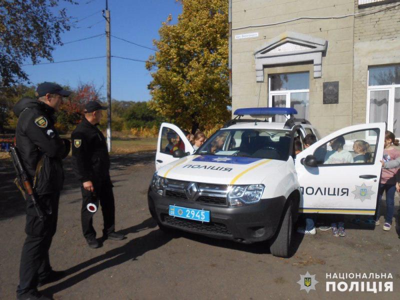 Авдіївські поліцейські навчали правилам дорожнього руху юних пішоходів, фото-1