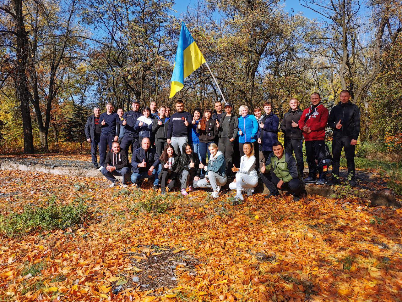 Правоохоронці Покровської оперативної зони взяли участь у марафоні до Дня захисника України, фото-8