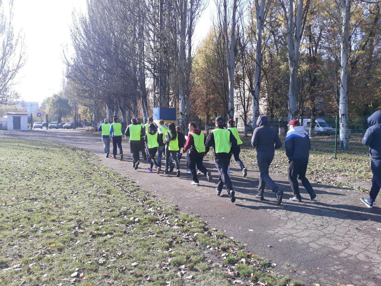 Правоохоронці Покровської оперативної зони взяли участь у марафоні до Дня захисника України, фото-11