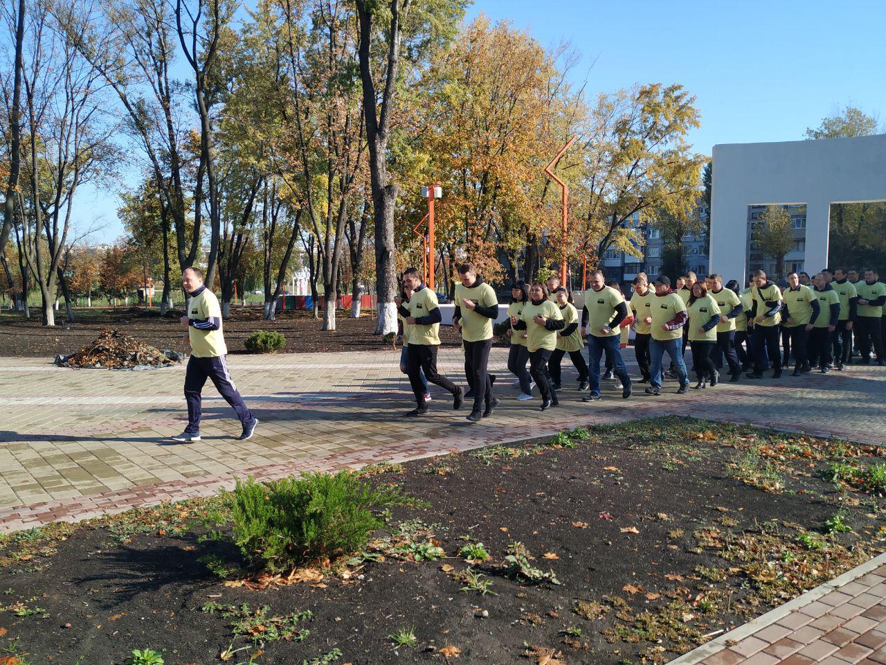 Правоохоронці Покровської оперативної зони взяли участь у марафоні до Дня захисника України, фото-2