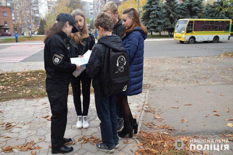 Майбутні поліцейські Покровська приєднались до акції «Ми за безпеку дорожнього руху», фото-2