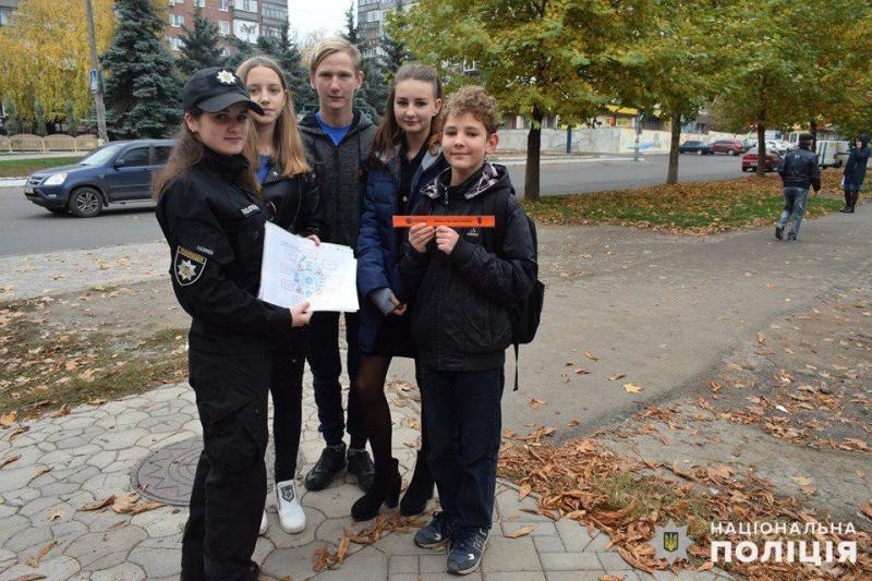 Майбутні поліцейські Покровська приєднались до акції «Ми за безпеку дорожнього руху», фото-4
